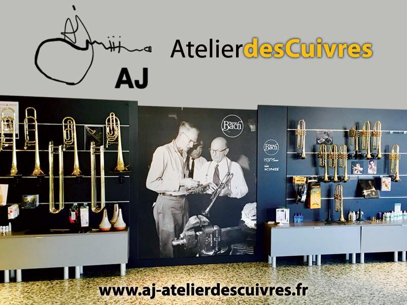 Vente & réparation d'instruments de musique (cuivres)